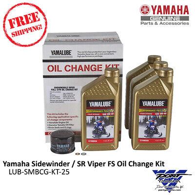 Full Synthetic Oil Change >> Yamaha Sidewinder Sr Viper Full Synthetic Oil Change Kit Lub Smbcg Kt 25 Ebay