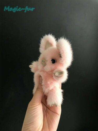 Real Mink Fur Pig Piggy piglet Bag Charm Kids Doll Toy Gift Car Keychain Pendant