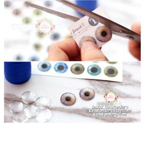 Blythe-Doll-Eye-Chips-14mm-Blank-Transparent-Doll-BJD-Pullip-Glass-Repaint-OOAK