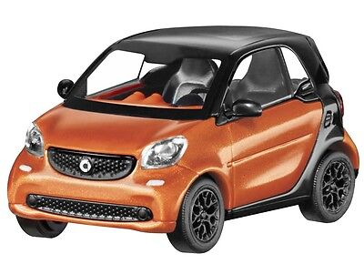 Original smart fortwo Coupe C453 1:87 Busch orange//grau//blau