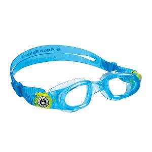 AQUA-SPHERE-Moby-Kid-Schwimmbrille-blau-Einsteiger-Kinder-Jungen-Kids-Maedchen