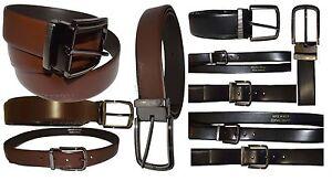 Men's belt Leather Dress Belt Black Brown Leather Belt Bronze Buckle Up to 44 in