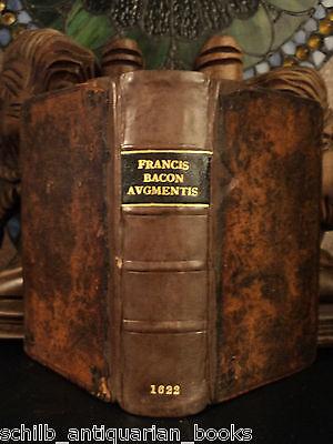 1662 Francis BACON Science De Augmentis Scientiarum Scientific Philosophy