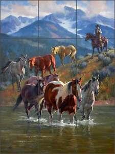 Ceramic-Tile-Mural-Backsplash-Sorenson-Southwest-Cowboy-Horse-Art-RW-JS043