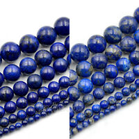 Natural Lapis Lazuli Gemstone Round Loose Beads 15.5'' 8mm 10mm 12mm 16mm 18mm
