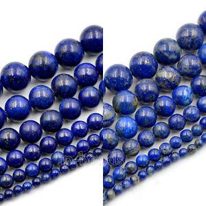 Natural-Lapis-Lazuli-Gemstone-Round-Loose-Beads-15-5-039-8mm-10mm-12mm-16mm