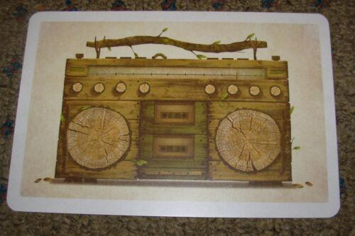 """DKNG Mixology Boombox Art Postcard Handbill 4 X 6/"""" like silkscreen poster print"""