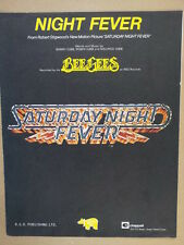 song sheet NIGHT FEVER bee gees 1977
