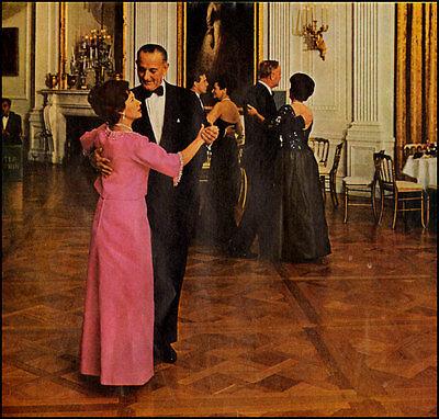 1965 print  photo, LYNDON JOHNSON & Princess Margaret Inauguration Dance -032813