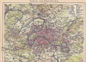 PARIS-Louvre-Bourse-Pantheon-STADTPLAN-von-1904-MAP-Boulogne-Gentilly-Fontenay