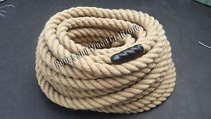 24 mm 100/% Naturel Jute Rope 3 Strand Twisted corde terrasse jardin Nautique Camping