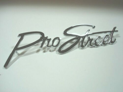 Custom Pro Street Chrome Die Cast Script Emblem for Street Hot Rat Rod