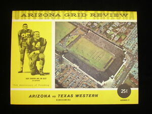 November 21, 1959 Texas Western College vs. Univ. of Arizona Football Program