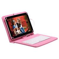 """IRULU Tablet PC 10.1"""" Android 5.1 Lollipop WIFI 8GB BT WIFI + Cute Pink Keyboard"""