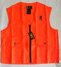 BROWNING hunting shooting safety vest NEW blaze orange mens XLARGE XL 3051000104