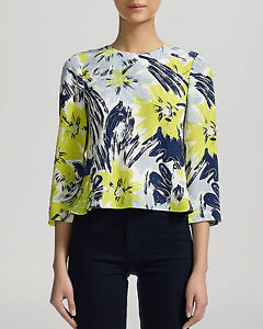16 uk 4 Print Womens Sizes rrp bnwt £95 Whistles Silk Top 'bloomsbury' Swing Rwa6Tv