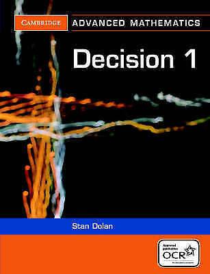 1 of 1 - Decision 1 for OCR (Cambridge Advanced Level Mathematics), Good, Stan Dolan, Boo
