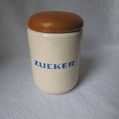 Wächtersbach schöne alte Keramik Deckeldose m. Holzdeckel Vorratsgefäss Zucker | eBay