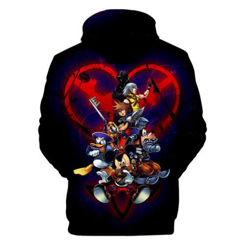 Kingdom Hearts 3D Printed Hoodie Sweatshirt Game Cosplay Costume Pullover Tops
