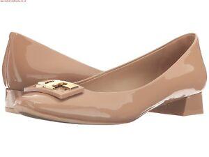 620ea0e65d7f1 NIB Tory Burch Gigi Logo 25mm Pump Shoes Beige 7 M Runs big