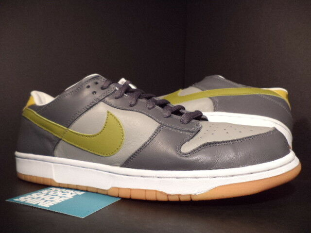 2002 Nike Dunk Low Pro EUROPE GRAPHITE GREY CAMPER GREEN GUM SOLE 624044-032 13