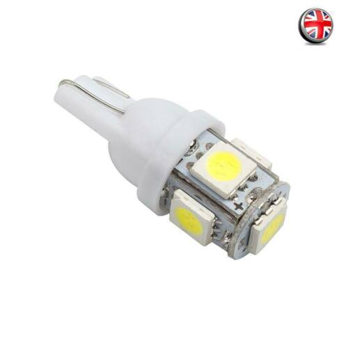 1//2//5//10//20x T10 W5W 5SMD 5050 White LED Car Wedge Tail Side Light Bulbs 1W UK