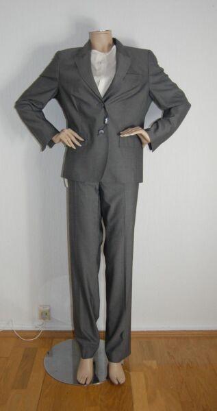 *** Eugen Klein *** Costume Da Donna Vestito 2 Pezzi Business Blazer + Pantaloni Vestito Grigio