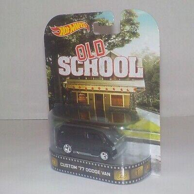 1977 Dodge van custom Old School 1:64 HOT WHEELS Retrò Entertainment bdt88