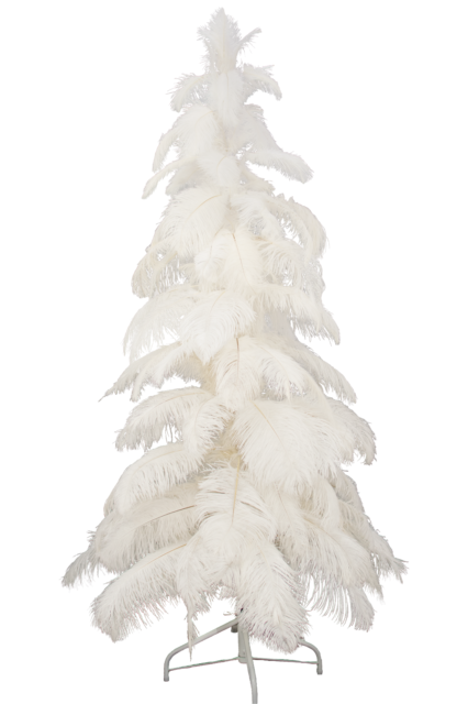 White Ostrich Feather Tree 3ft Christmas 1920 S Style Real Feathers