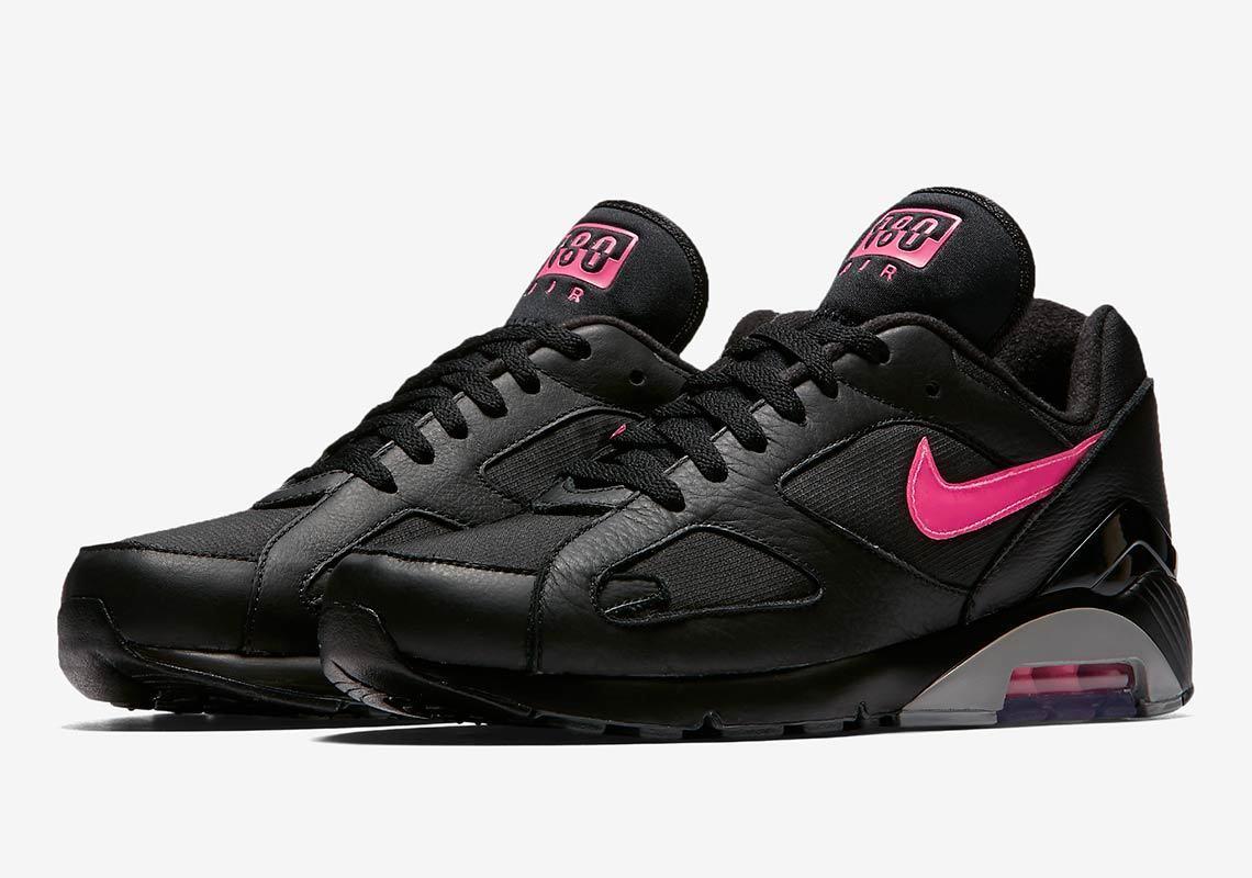 2018 Nike Air Max 180 PRM SZ 10.5 Black Pink Blast Wolf Grey AQ9974-001
