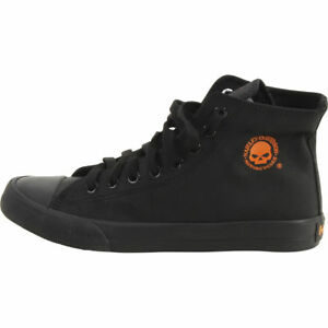 1d23949e0651 Harley Davidson Men s Baxter Black Orange Skull High-Top Sneakers ...