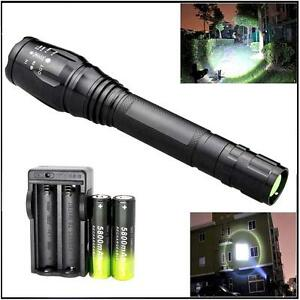 Zoomable-NEW-XML-T6-LED-8000-LM-Flashight-18650-5-Modes-Torch-Lamp-Charger-A