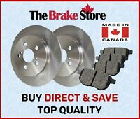 Rear Brake Rotors And Ceramic Pads For 02-03 Lexus ES300 2002-2006 Toyota Camry