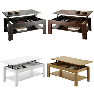 Table basse relevable oralia en diff rents coloris ebay - Table basse maison a vendre m6 ...