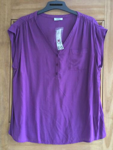 Yessica @ C/&a Nouveau Violet Haut Sans Manches Chemisier Taille UK 12-20 Bnwt