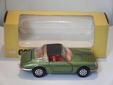 "Corgi no: 382 ""Porsche 911S Targa"" - Verde/Naranja Interior (1970/Boxed) Original"