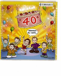 Auguri Buon Compleanno 40 Anni.Dettagli Su Biglietto Auguri Buon Compleanno 40 Anni Musicale Tutti Frutti Perleberg