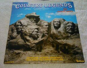 Country-Legends-LP-Ronco-Various-Artists-UK-Import-Chet-Atkins-Dolly-Parton