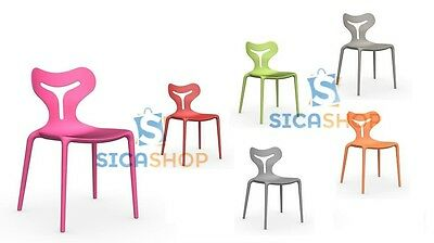CALLIGARIS Sedia AREA51 impilabile in polipropilene vari colori | eBay