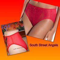 Wacoal 841186 Chinese Red Retro Chic Sheer Hi-cut Brief Panties Medium