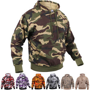 Image is loading Camo-Hoodie-Pullover-Hooded-Sweatshirt-Army -Military-Camouflage- 537e0d53e3a