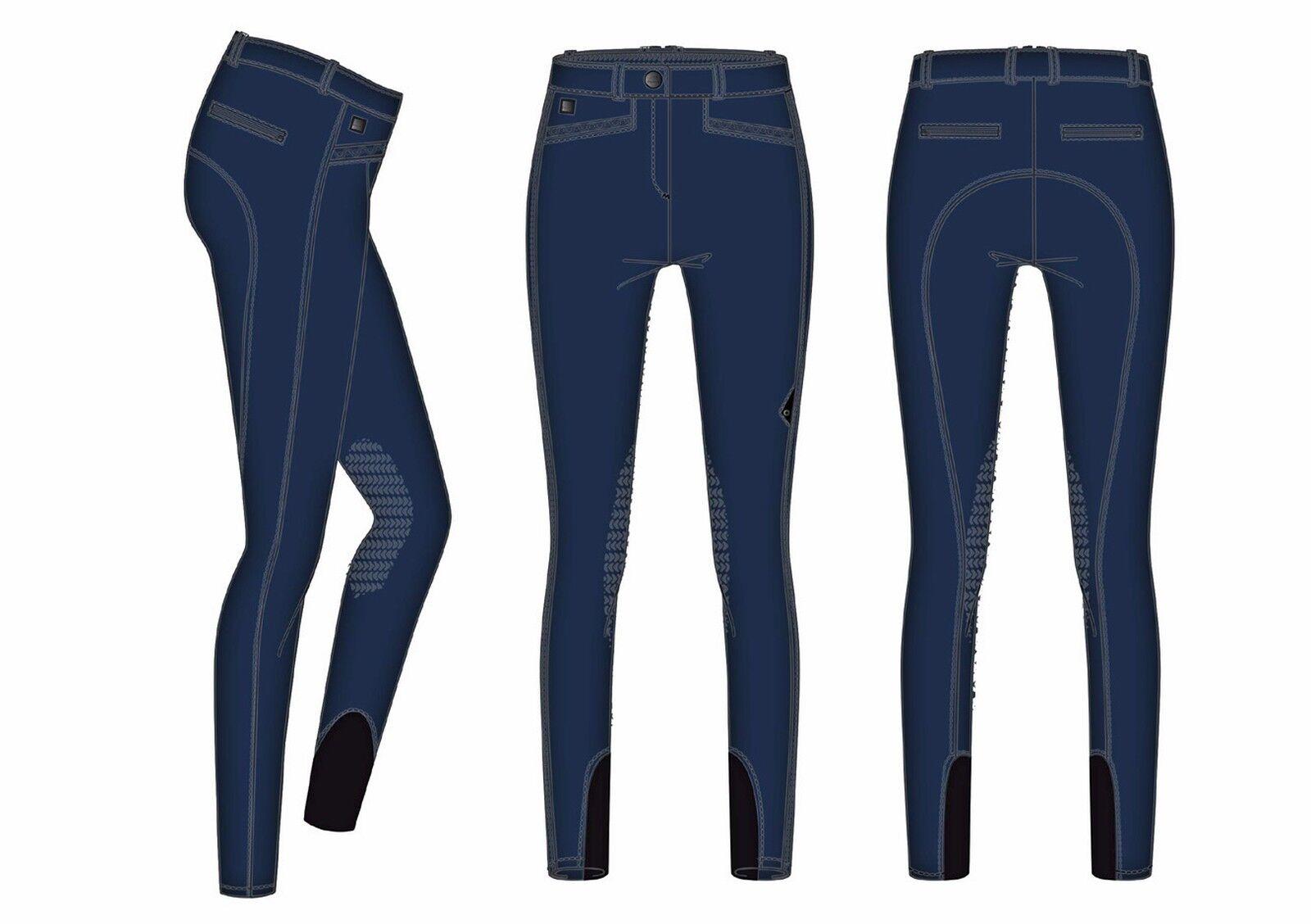 EQUILINE Pantaloni vale MONTALA pantaloni per donna con KneeGrip