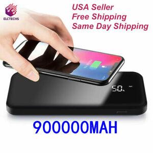 Qi Wireless Power Bank 100000mAh Backup Portable Charger External Battery Backup
