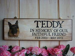 DOG-MEMORIAL-PLAQUE-HANDMADE-WOODEN-IN-MEMORY-SIGN-GERMAN-SHEPHERD-MEMORIAL-SIGN