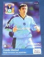 COVENTRY CITY HOME PROGRAMMES 1999-2000