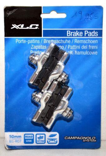 2x Paire de patins de freins vélo XLC BS-R07 Campagnolo 50mm Argent//Noir