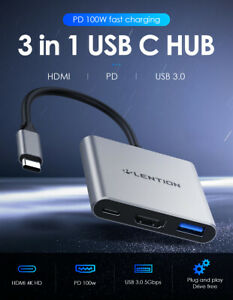 LENTION-USB-C-Hub-to-HDMI-USB-3-0-100W-PD-Multiport-OTG-Adapter-for-iPad-Pro-Mac