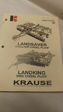 Krause Owners Manual For Landsaver Landking 4800 4820 Coulter Plow Disc Chisel