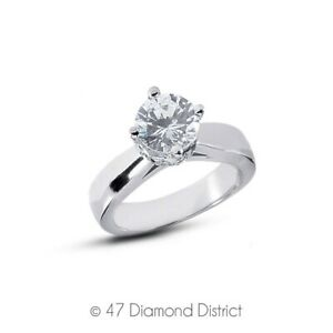 2-34-CT-G-SI1-Round-Natural-Certified-Diamonds-18K-Gold-Classic-Side-Stone-Ring