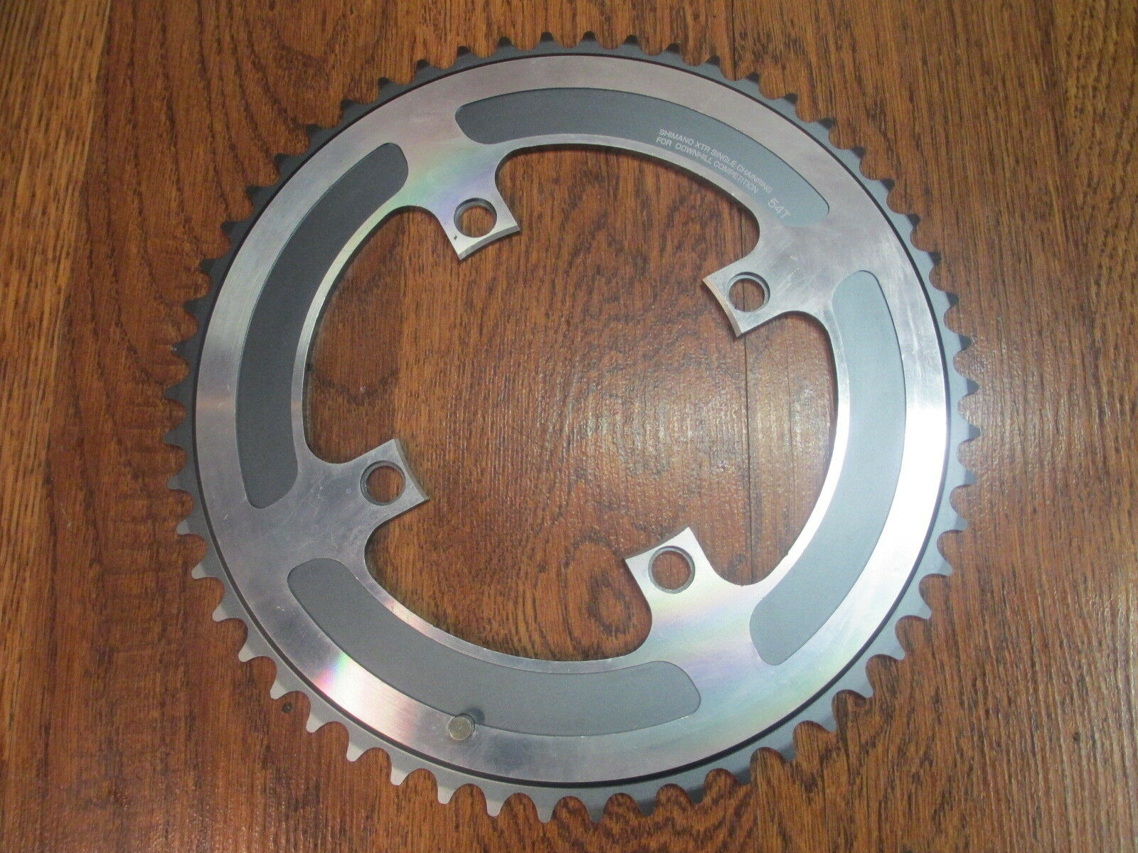 RARE SHIMANO XTR SINGLE CHAINRING FOR DOWHILL  COMPETITION  4 BOLT 110 BCD 54T  in stadium promotions